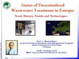Status of Decentralized Wastewater Treatment in ...