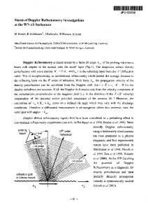 Status of Doppler Reflectometry Investigations at the W7-AS ...