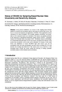 Status of XSUSA for Sampling Based Nuclear Data Uncertainty and ...
