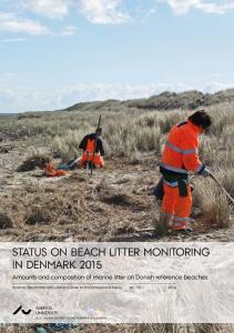 Status on beach litter monitoring in Denmark 2015 - Aarhus Universitet