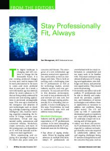 Stay Professionally Fit, Always