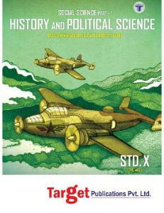 Std. 10th - History and Political Science - Target Publications