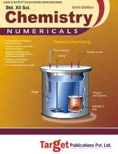 Std. XII / 12th Chemistry Numericals - Target Publications