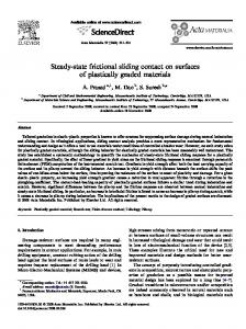 Steady-state frictional sliding contact on surfaces of plastically graded ...