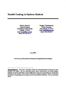 Stealth-Trading in Options Markets