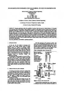 STEAM GASIFICATION OF BIOMASS AT CHP PLANT ... - Pivotal