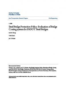 Steel Bridge Protection Policy: Evaluation of Bridge