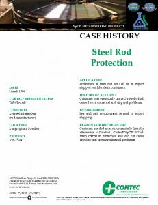 Steel Rod Protection - Cortec Case Histories