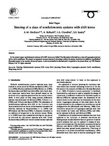 Steering of a class of nonholonomic systems with ... - Semantic Scholar