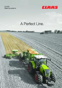 Steering Systems - Claas Agrosystems GmbH & Co. KG