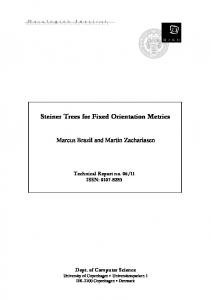 Steiner Trees for Fixed Orientation Metrics