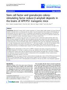 Stem cell factor and granulocyte colony-stimulating factor ... - CiteSeerX