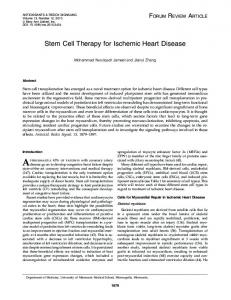 Stem Cell Therapy for Ischemic Heart Disease - health120years.com