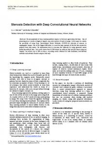 Stenosis Detection with Deep Convolutional Neural Networks