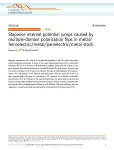Stepwise internal potential jumps caused by multiple ... - Naturewww.researchgate.net › publication › fulltext › Stepwise-i