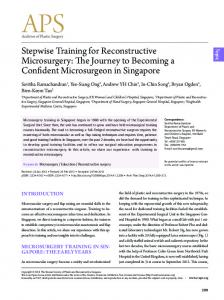 Stepwise Training for Reconstructive Microsurgery