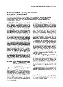 Stereochemical quality of protein structure ... - Wiley Online Library