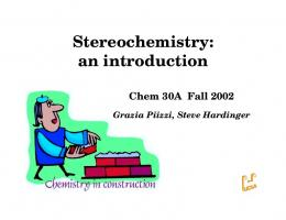 Stereochemistry: an introduction