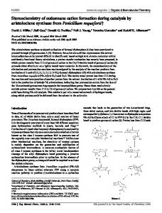 Stereochemistry of eudesmane cation formation