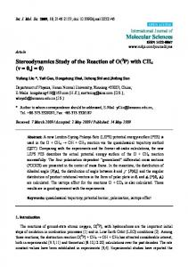 Stereodynamics Study of the Reaction of O(3P) with ... - BioMedSearch