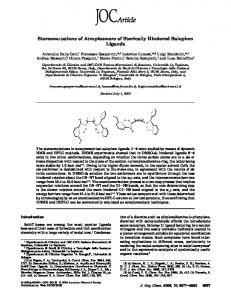 Stereomutations of Atropisomers of Sterically Hindered Salophen ...