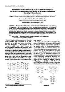Stereoselective Synthesis of (R, R)-, (S, S)-, and (R, S) - Nature