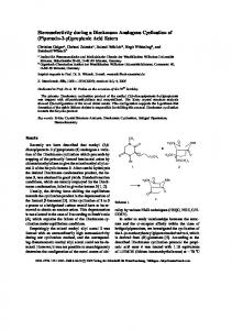 Stereoselectivity during a Dieckmann Analogous Cyclization of