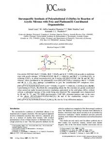 Stereospecific Synthesis of Polysubstituted E-Olefins by Reaction of