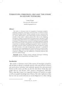 Stereotypes, prejudices, self and 'the other' in history textbooks