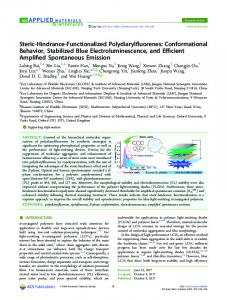 Steric-Hindrance-Functionalized Polydiarylfluorenes - ACS Publications