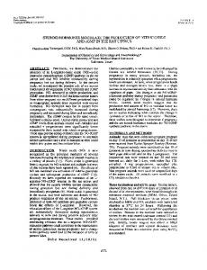 STEROID HORMONES MODULATE THE PRODUCTION OF NITRIC ...