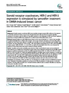 Steroid receptor coactivators, HER-2 and HER-3 ... - BioMedSearch