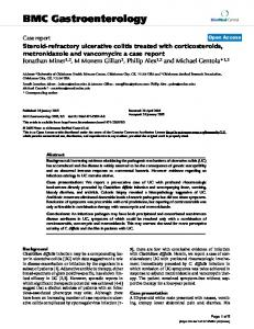 Steroid-refractory ulcerative colitis treated with corticosteroids ...