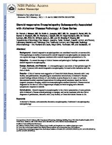 Steroid-responsive Encephalopathy Subsequently Associated with ...