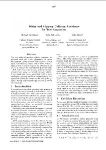 Sticky And Slippery Collision Avoidance For Tele ... - Semantic Scholar