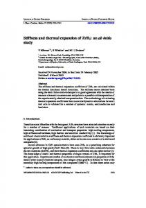Stiffness and thermal expansion of ZrB2: an ab initio ...