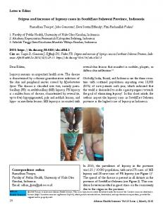 Stigma and increase of leprosy cases in SouthEast Sulawesi Province ...