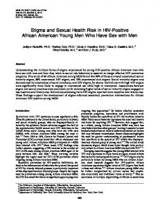 Stigma and Sexual Health Risk in HIV-Positive African American ...