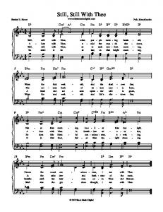 Still, Still With Thee - Sheet Music Digital