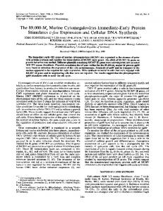 Stimulates c-fos Expression and Cellular DNA ... - Journal of Virology