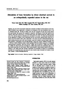 Stimulation of bone formation by direct electrical ... - Semantic Scholar
