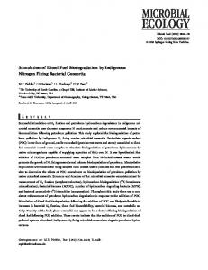 Stimulation of Diesel Fuel Biodegradation by ... - Springer Link