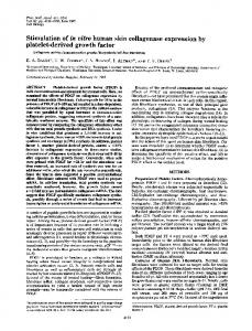 Stimulation of in vitro human skin collagenase expression by platelet ...
