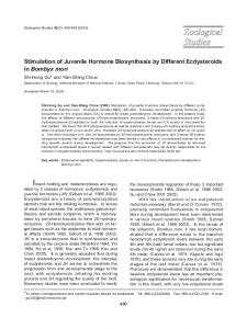 Stimulation of Juvenile Hormone Biosynthesis by ... - Zoological Studies