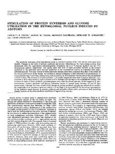 stimulation of protein synthesis and glucose ... - Semantic Scholar