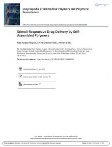 Stimuli-Responsive Drug Delivery by Self- Assembled ...
