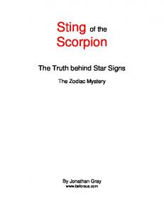 Sting of the Scorpion - Weebly