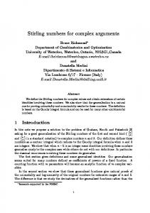 Stirling numbers for complex arguments