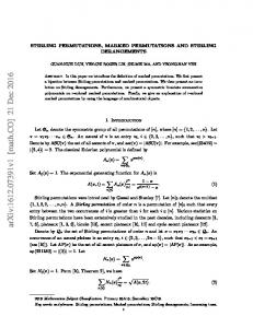 Stirling permutations, marked permutations and Stirling derangements