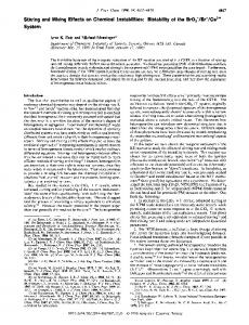 Stirring and Mixing Effects on Chemical Instabilities - ACS Publications